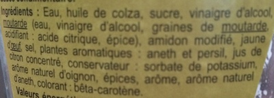 Sauce pomme frite - Ingredients