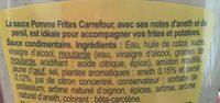 Sauce Pommes-Frites - Ingredients - fr