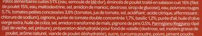 Mini penne au poulet sauce pesto rosso - Ingrédients - fr