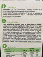 Mini farfalles au poulet sauce pesto - Ingrediënten - fr