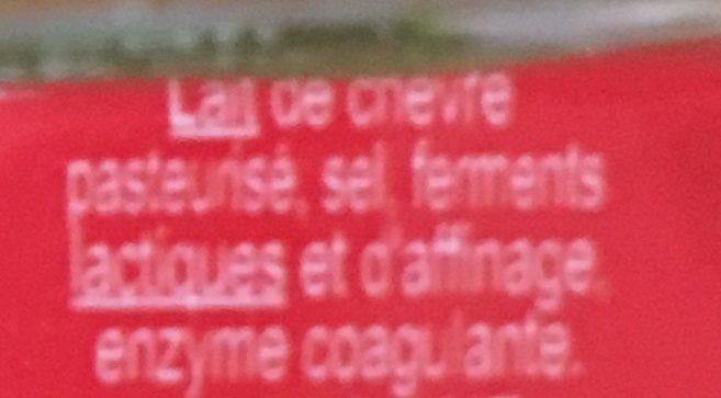 Crottin de chèvre - Ingrédients - fr