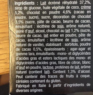 Dessert Dame Blanche - Ingredients - fr