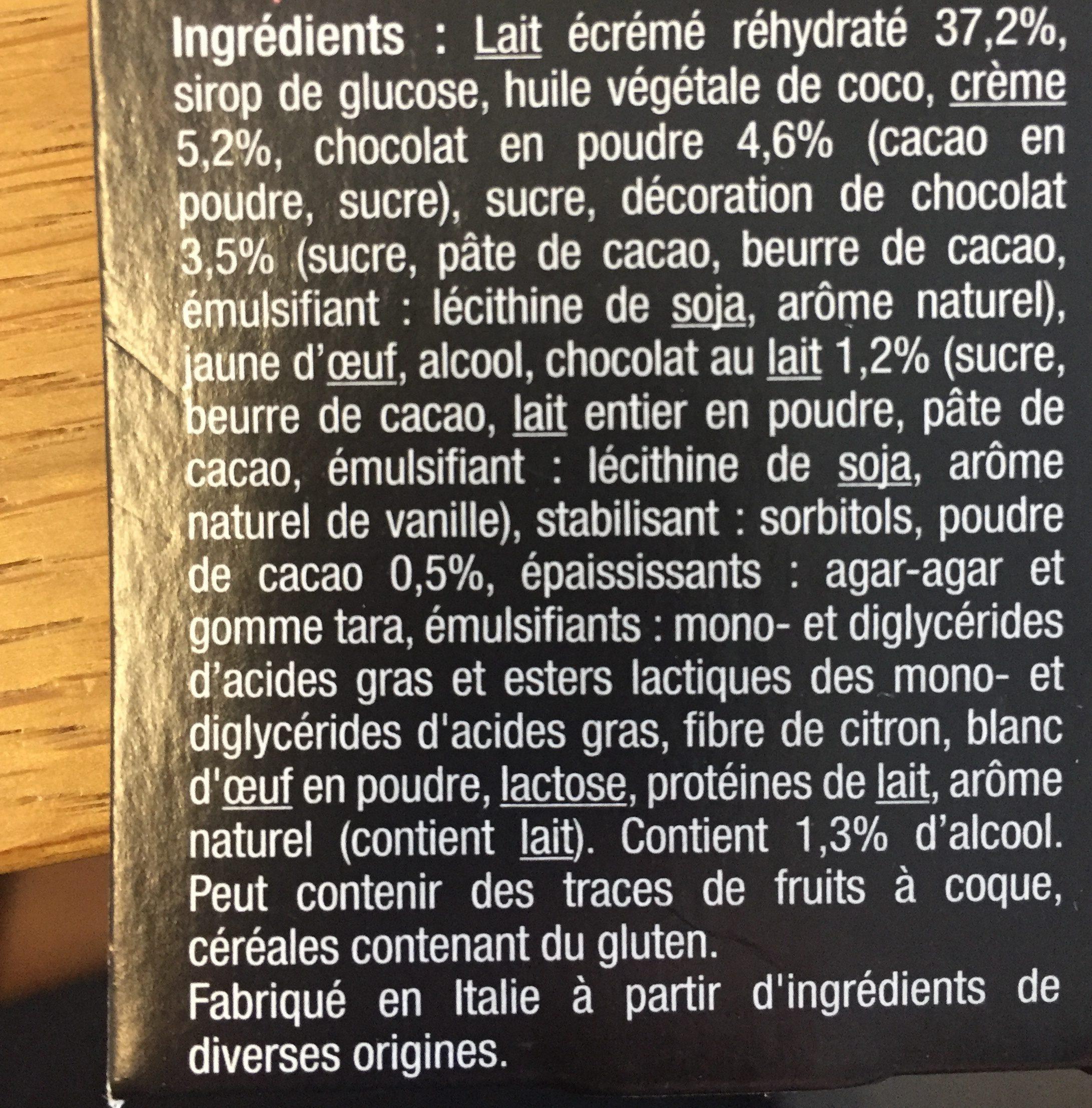 Dessert Dame Blanche - Ingrediënten - fr