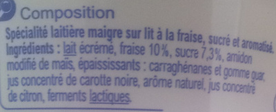Mon Encas (0 % MG) Fraise - Ingrediënten - fr