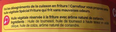 Huile végétaleSpéciale Friture - Ingredients - fr