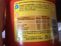 Huile végétaleSpéciale Friture - Nutrition facts - fr