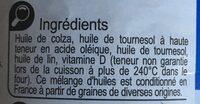 Mélange 4 huiles - Ingrédients - fr