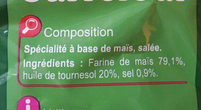 Tortillas chips nature - Ingrediënten