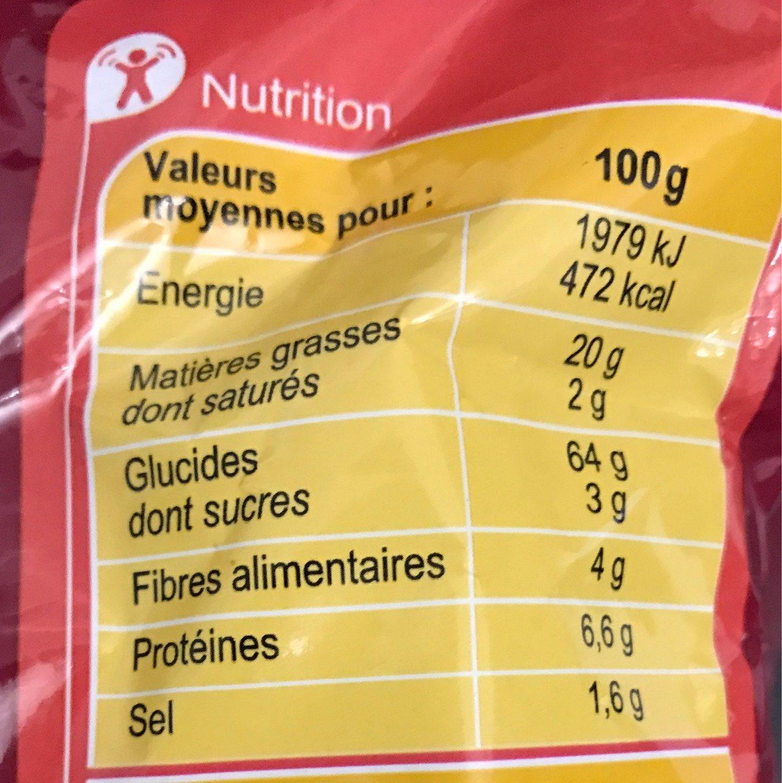 Tortillas chips goût mexicain - Voedingswaarden - fr