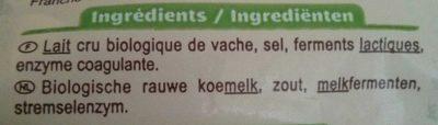 Emmental français râpé au lait cru - Ingrédients - fr