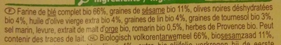 Crackers Olives romarin - Ingredients
