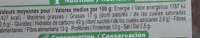 Crackers Olives romarin - Nutrition facts - fr