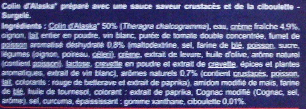 Colin d 39 alaska sauce saveur crustac s surgel carrefour - Cuisiner du colin surgele ...