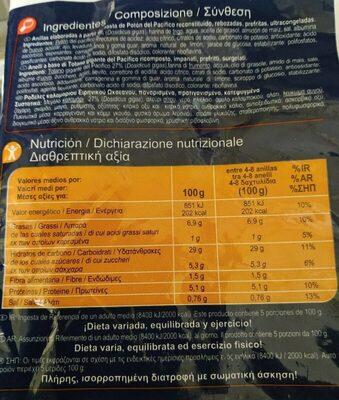 Anillas a la romana - Nutrition facts
