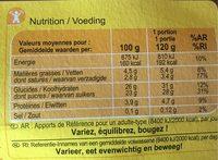 Crème dessert au Chocolat - Informations nutritionnelles