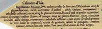 Calissons d'Aix Amandes du bassin méditerranéen - Ingrédients