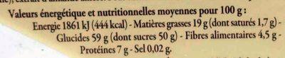 Calissons d'Aix Amandes du bassin méditerranéen - Voedingswaarden