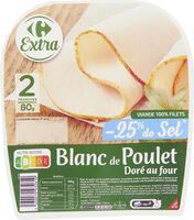 Blanc de Poulet -25% de sel* - Produit - fr