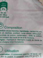 Jambon cru - Ingredients