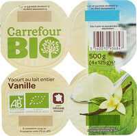 Yaourt au lait entier vanille - Produit - fr