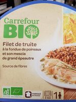 Filet de truite à la fondue de poireaux - Produit - fr