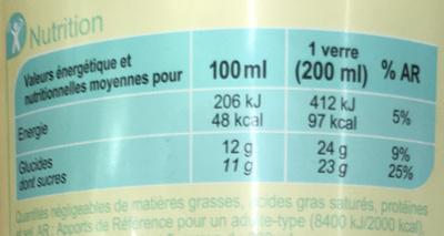 Citronnade - Nährwertangaben - fr