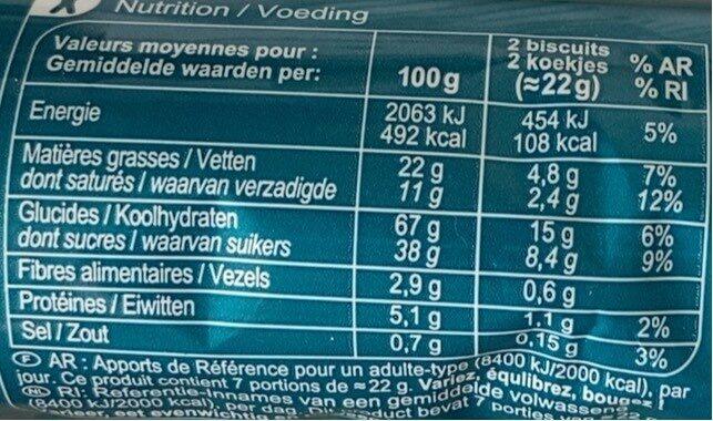 Black & Roll - Informations nutritionnelles - fr