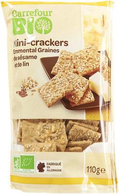 Mini-crackers  Emmental Graines de sésame et de lin - Producto