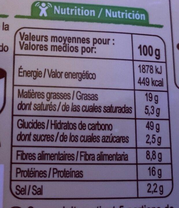Mini-crackers  Emmental Graines de sésame et de lin - Informations nutritionnelles - fr