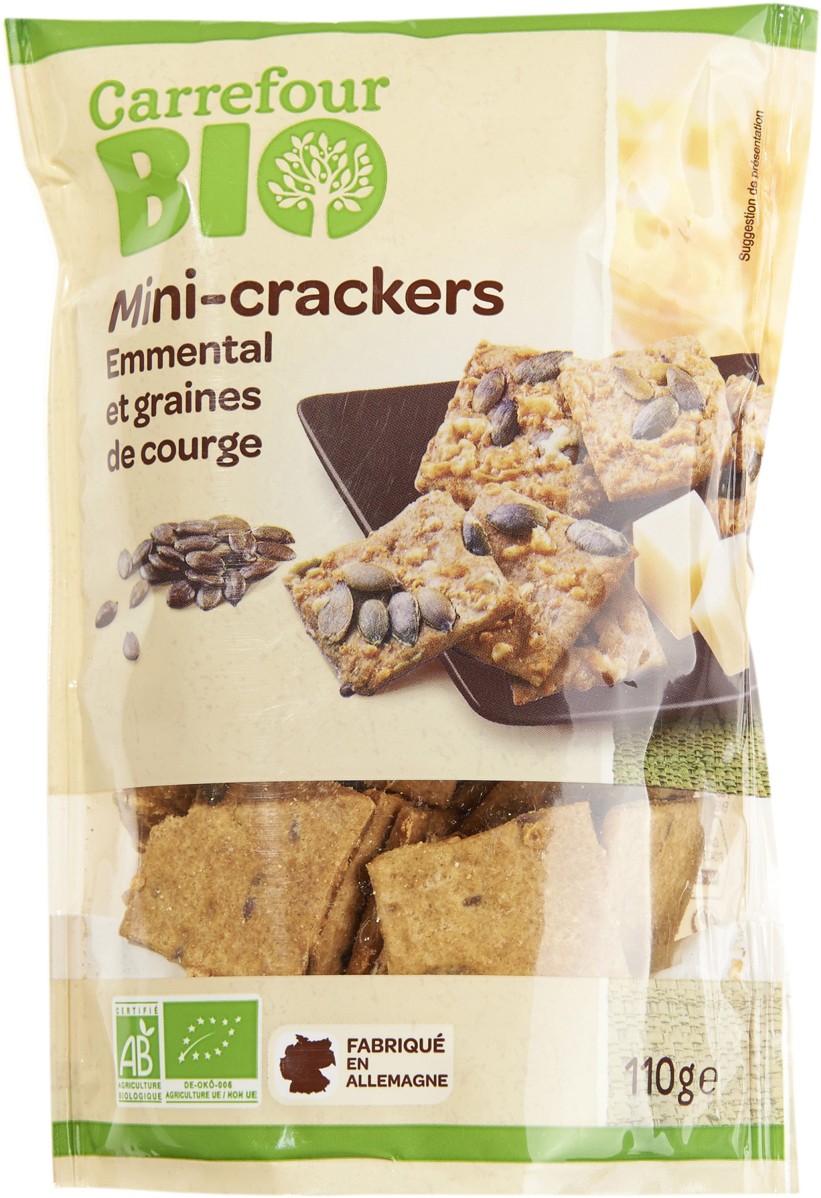 Mini-crackers emmental et graines de courge - Producte - fr
