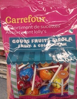 Assortiment de sucettes goûs fruits & cola - Product - fr