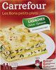 Lasagnes chèvre - épinard A l'emmental râpé - Product