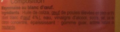 Mayonnaise fouettée au blanc d'œuf - Inhaltsstoffe - fr