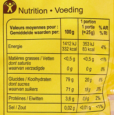 Marshmallows Mix - Voedingswaarden - fr