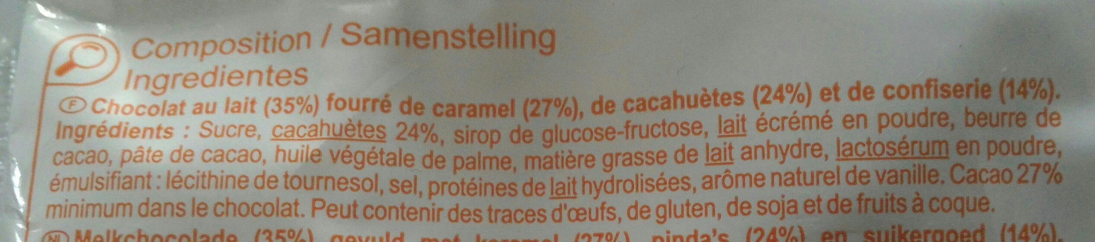 Choc n' nuts barres cacahuètes - Ingredientes - fr