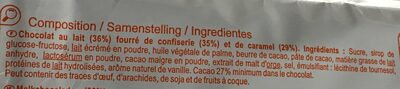 Barres au caramel - Ingrédients - fr