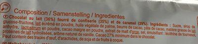 Barres au caramel - Ingredientes - fr