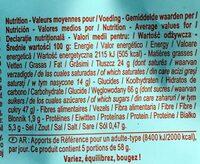 Barres caramel biscuit - Wartości odżywcze - pl