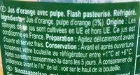 100% Pur jus orange Avec pulpe - Ingrediënten - fr