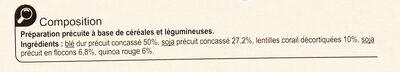 Mélange Gourmand - Ingrédients - fr