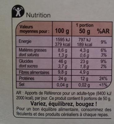 Mélange céréales - Voedingswaarden - fr