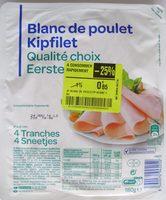Blanc de poulet Qualité Standard (4 Tranches) - Produit - fr