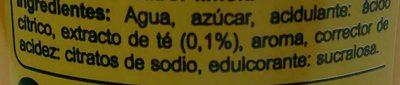 Iced tea - Ingredientes - es