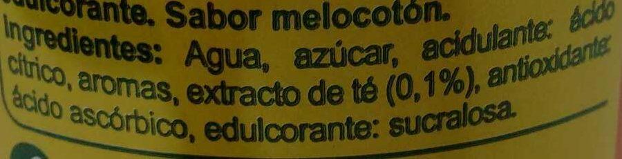 Iced Tea Melocotón - Ingredientes - es