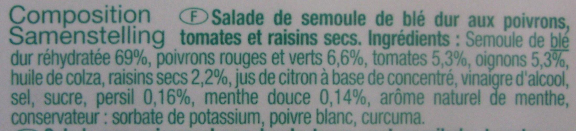 Taboulé oriental - Ingrédients - fr