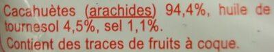 Cacahuètes grillées salées - Ingrédients - fr