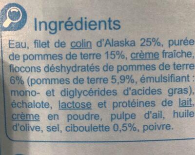 Parmentier de Colin d'Alaska à la ciboulette - Ingrédients