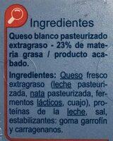 Queso de untar - Ingredients