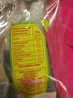Chocolats lapin chocolat lait Esprit de Fête - Valori nutrizionali - fr