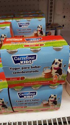 yogur para beber semidesnatado fresa - Product